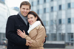 Smiling couple on city trip Royalty Free Stock Image