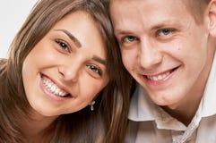 Smiling Couple close portrait Stock Images