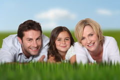 Smiling couple and daughter Stock Image