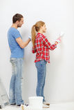 Smiling couple doing renovations at home Royalty Free Stock Photo