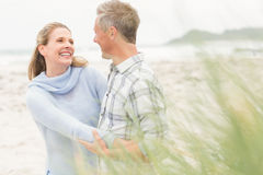 Smiling couple enjoying time together Stock Images