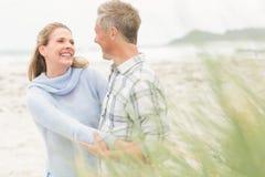 Smiling couple enjoying time together Stock Images