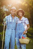 Smiling couple in the garden Stock Image