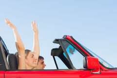 Smiling couple going on holidays together Royalty Free Stock Photos