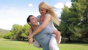 Smiling couple having fun Stock Image