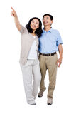 Smiling couple holding each other Stock Images