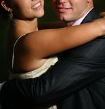 Smiling Couple hug Stock Image