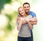 Smiling couple hugging Royalty Free Stock Photography