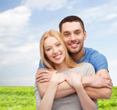 Smiling couple hugging Royalty Free Stock Photo