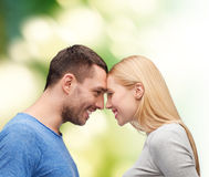 Smiling couple looking at each other Stock Image
