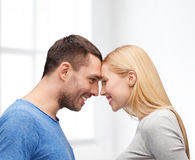 Smiling couple looking at each other Royalty Free Stock Image