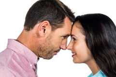 Smiling couple nose-to-nose Stock Images