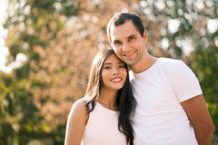 Smiling Couple Outdoors Stock Images