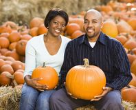 Smiling couple portrait. Royalty Free Stock Photography