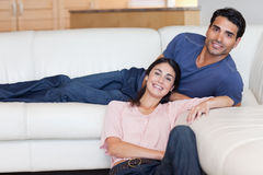 Smiling couple posing Stock Photography