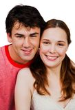 Smiling couple romancing Stock Images