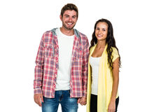 Smiling couple standing and looking at camera Stock Photography