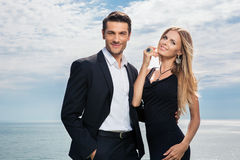 Smiling couple standing together Royalty Free Stock Image