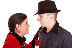 Smiling couple for valentines day Stock Photos