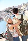 Smiling couple visiting Ibiza Royalty Free Stock Photos