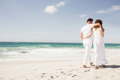 Smiling couple walking together Stock Images