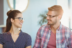 Smiling couple wearing spectacles Stock Image