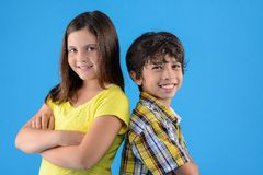 Smiling cousins Royalty Free Stock Images