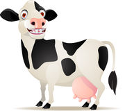 Smiling cow cartoon Stock Images