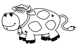 A smiling cow coloring. Illustration Royalty Free Stock Image