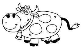 A smiling cow coloring. Illustration Stock Images