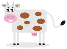 Smiling cow profile. A illustration Stock Images