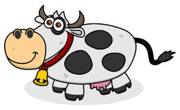 A smiling cow on profile. Illustration Stock Photo