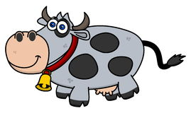A smiling cow on profile. Illustration Stock Image