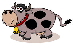 A smiling cow on profile. Illustration Stock Images