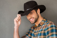 Smiling cowboy. Stock Images