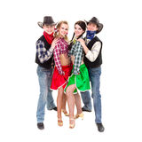 Smiling cowboys and cowgirls Royalty Free Stock Photo