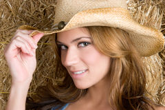 Smiling Cowgirl Royalty Free Stock Photo