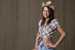Smiling cowgirl Royalty Free Stock Images