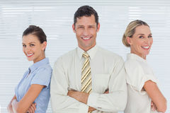 Smiling coworkers posing together Stock Photo