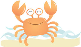 Smiling Crab. Illustration Smiling Crab dancing on the beach Stock Photos