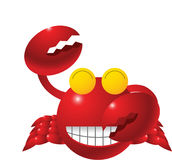 Smiling Crab Humorous Royalty Free Stock Photo