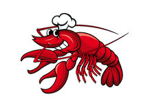 Smiling crayfish chef Stock Photos