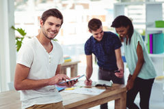 Smiling creative team working together Royalty Free Stock Photo