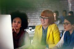 Smiling creative women designer having a meeting. Smiling creative women designer having a casual meeting stock photography
