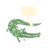 Smiling crocodile cartoon Royalty Free Stock Photo