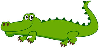 A smiling crocodile and profile Royalty Free Stock Image