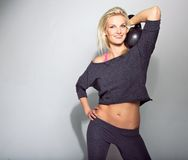 Smiling Crossfit Girl Royalty Free Stock Photo