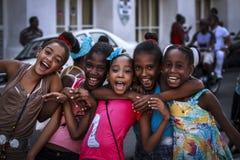 Smiling Cuban Children .. Royalty Free Stock Photos