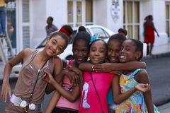 Smiling Cuban Children .. Royalty Free Stock Images
