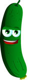 Smiling cucumber or pickle Stock Photos